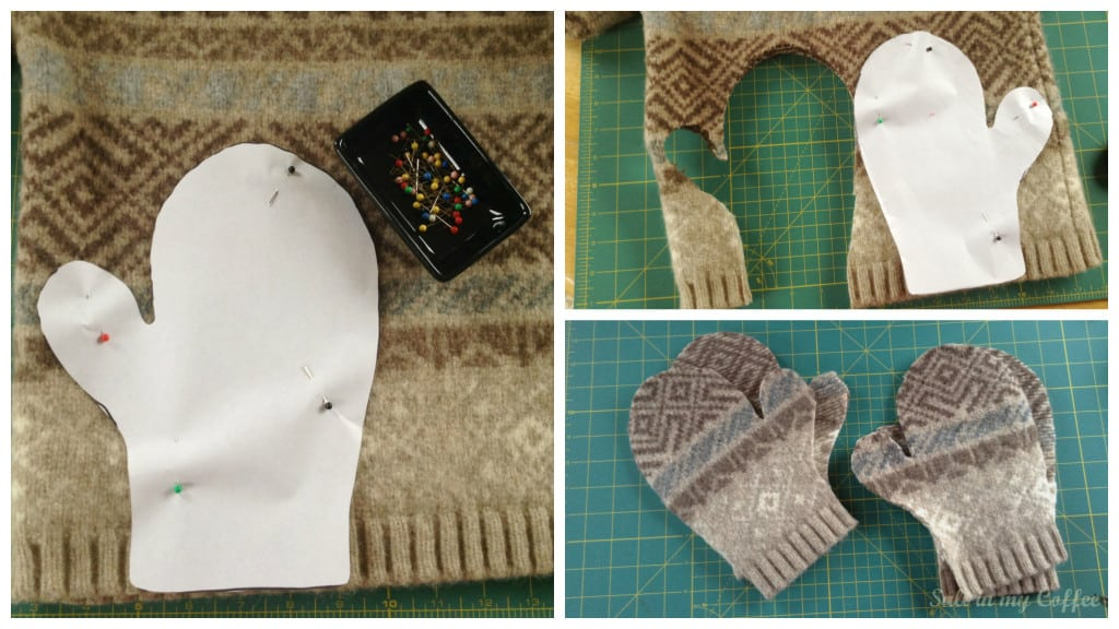 How to make mittens from old sweaters