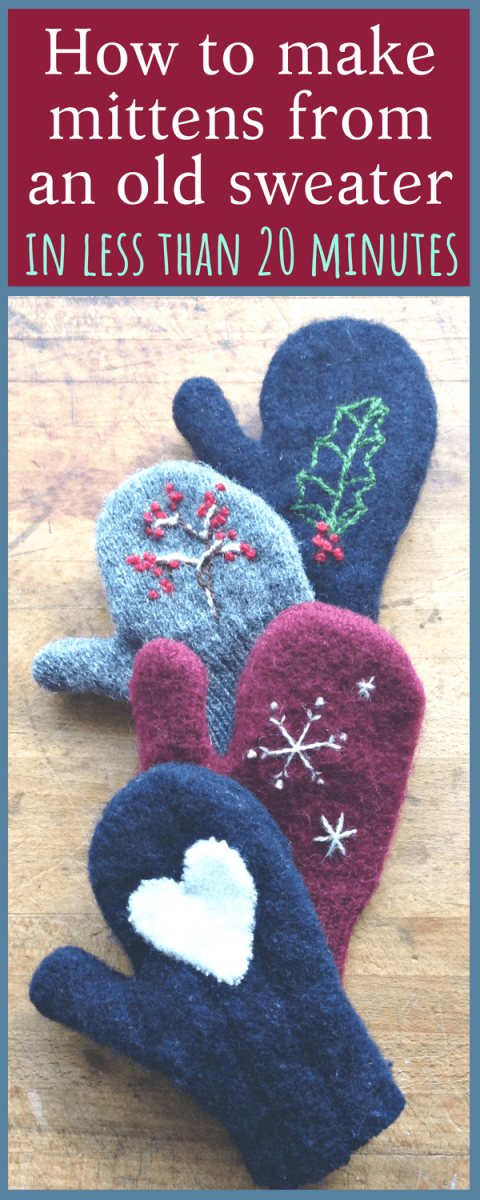 How to make mittens from an old sweater