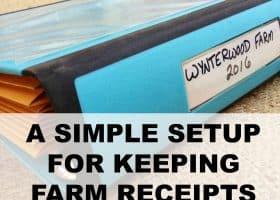 keeping farm receipts for taxes