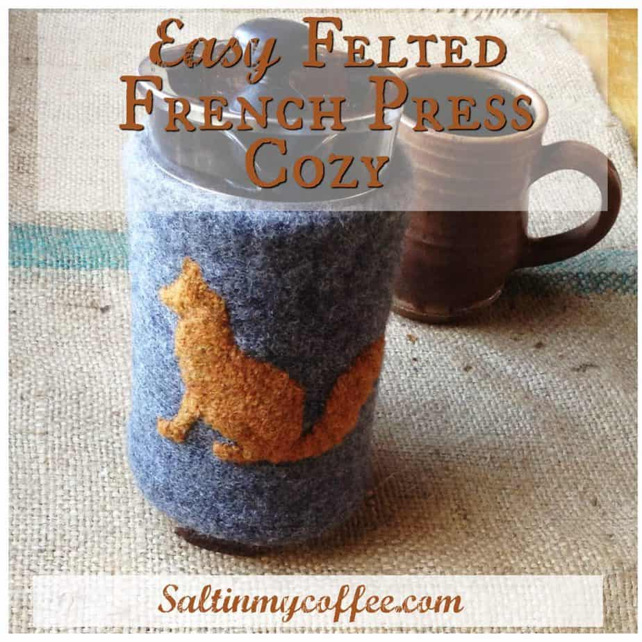 DIY Felted Coffee Cozy