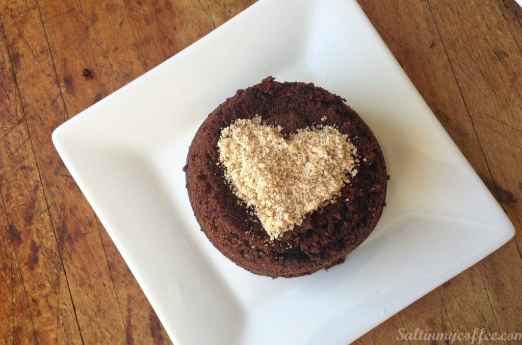 paleo fudge cakes for two