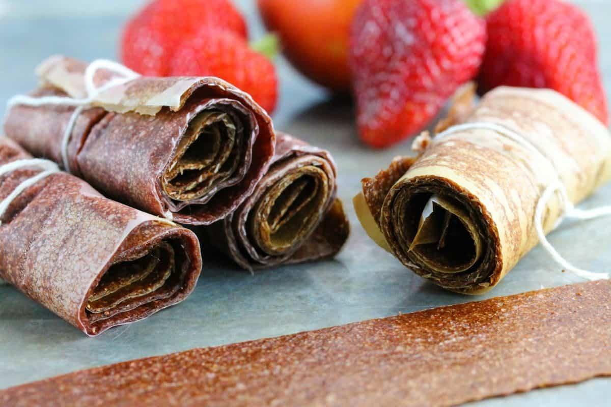 strawberry nectarine fruit leather