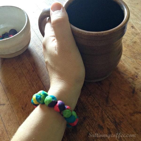 play dough bead diffuser bracelet