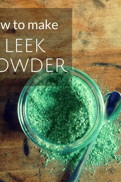 how to make leek powder
