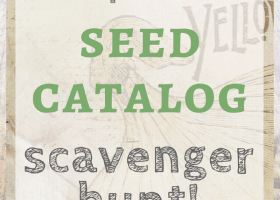 printable seed catalog scavenger hunt
