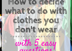 What to do with clothes you don't wear