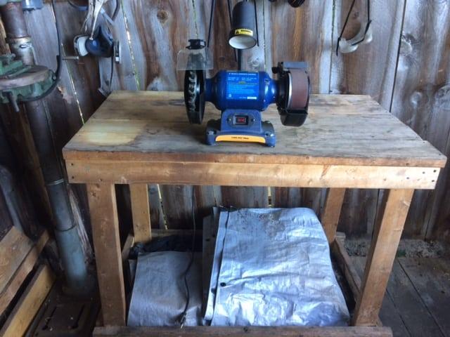 work bench for blacksmithing