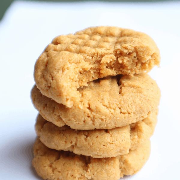 gluten free flourless peanut butter cookies