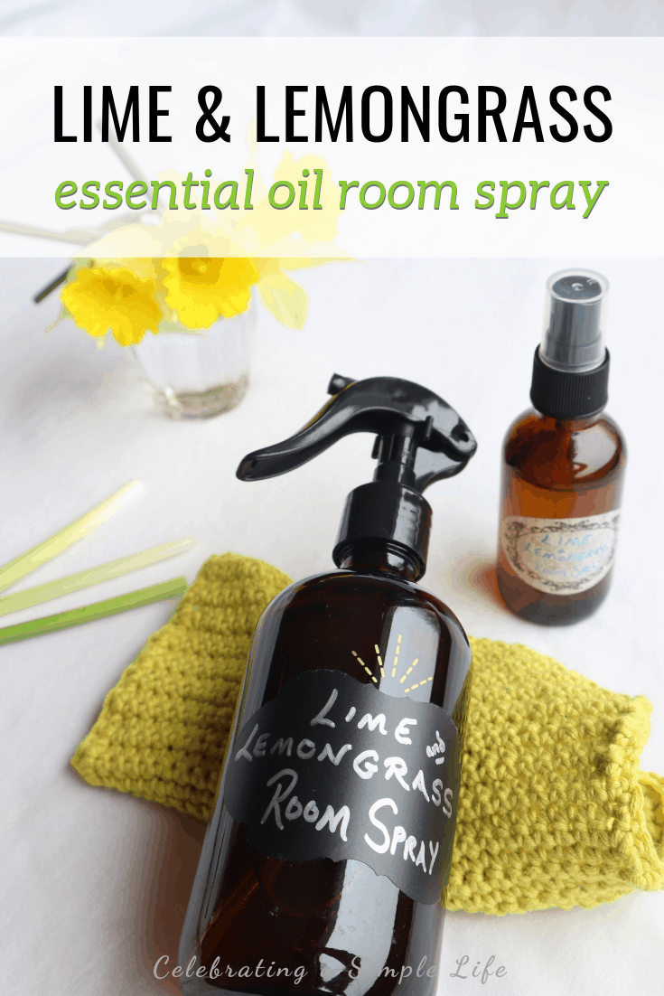 lime and lemongrass essential oil room spray