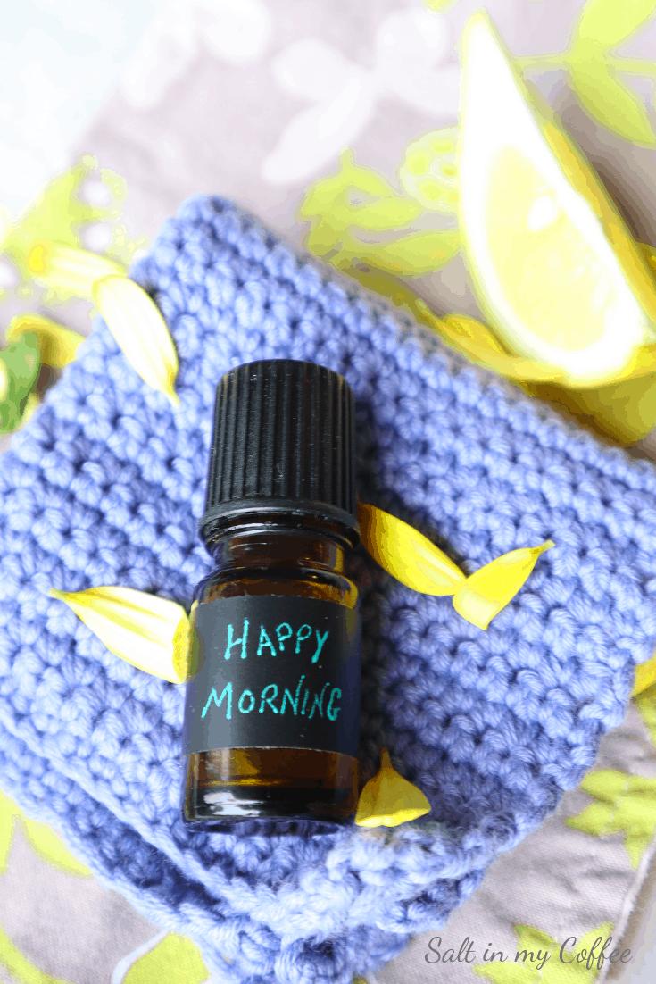 essential oil roller bottle recipe for mornings