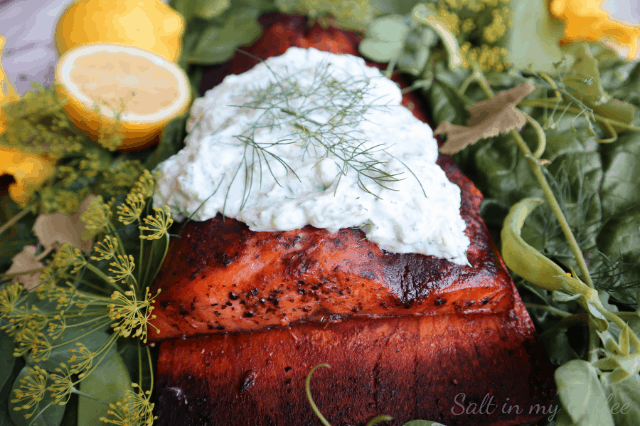 Orange and Ginger Salmon with Tzatziki