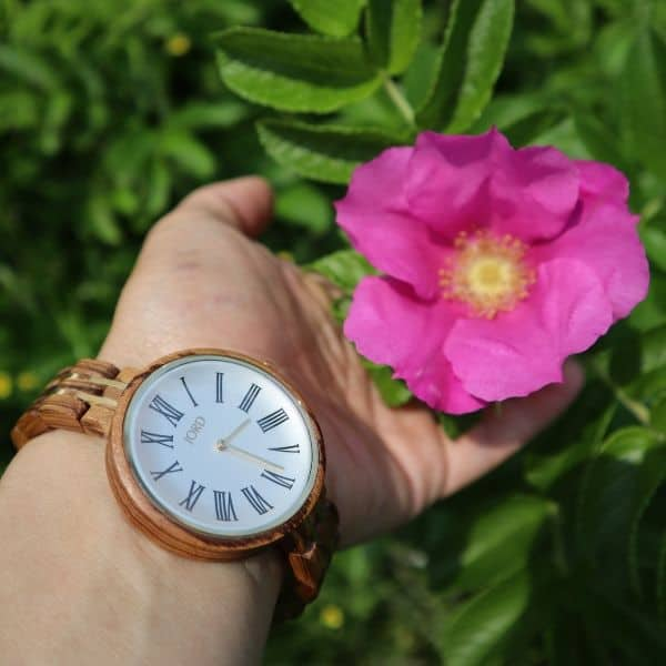 wooden watches with rose