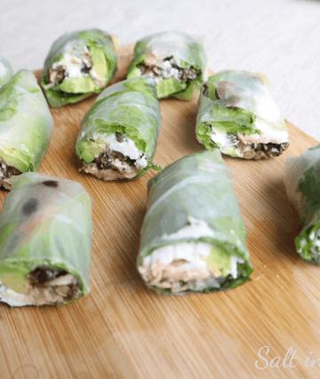 Mediterranean tuna spring rolls