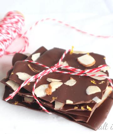 dark chocolate orange and almond bark recipe