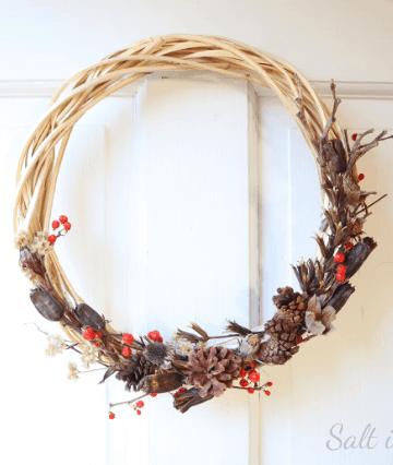 foraged winter wreath