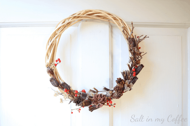 foraged winter wreath