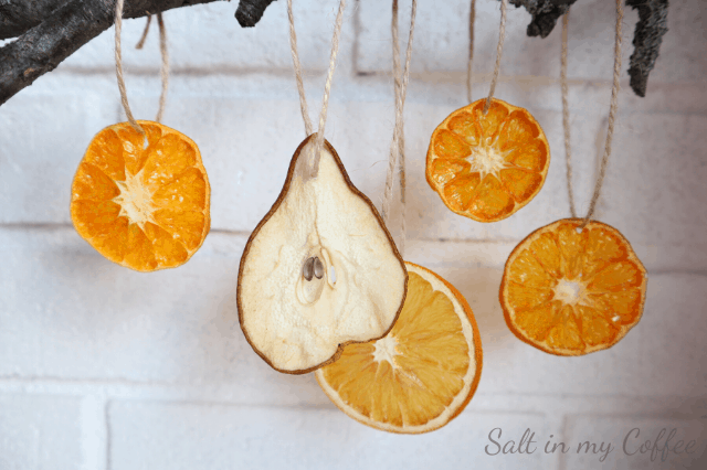 how to dry pears for ornaments and decorations