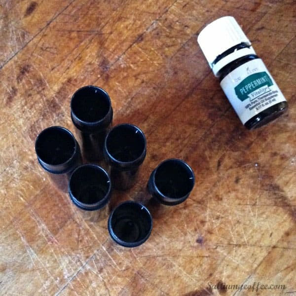handmade peppermint lip balm with essential oil