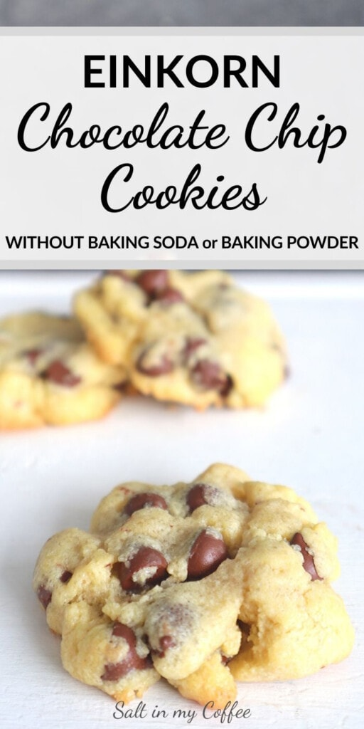 Einkorn Chocolate Chip Cookies with no Baking Soda
