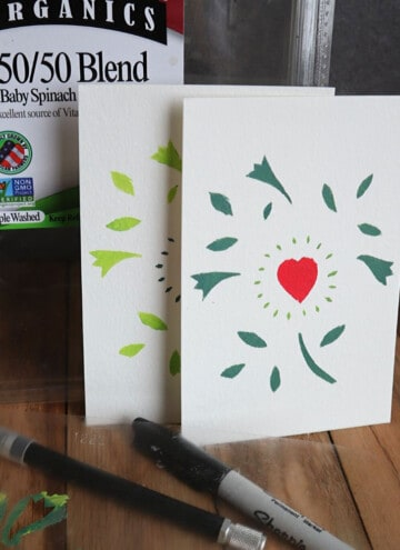 how to make stencils from old lettuce tubs
