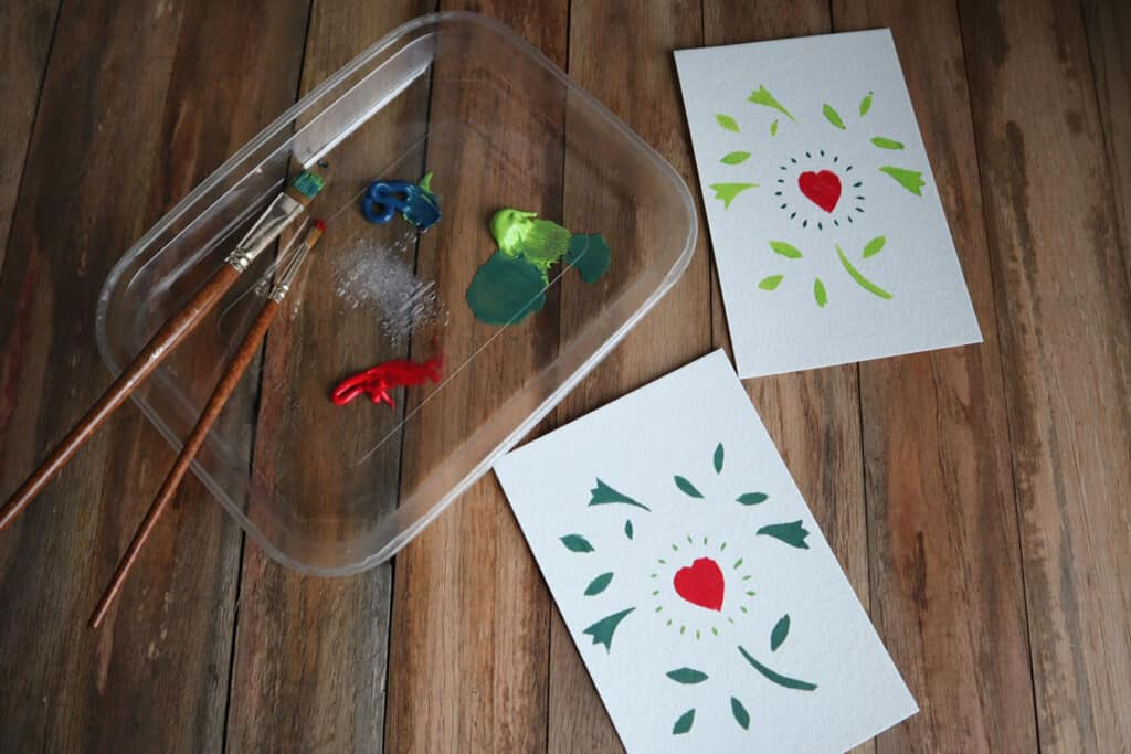 Using handmade stencils