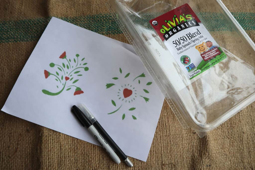 materials for making stencils at home