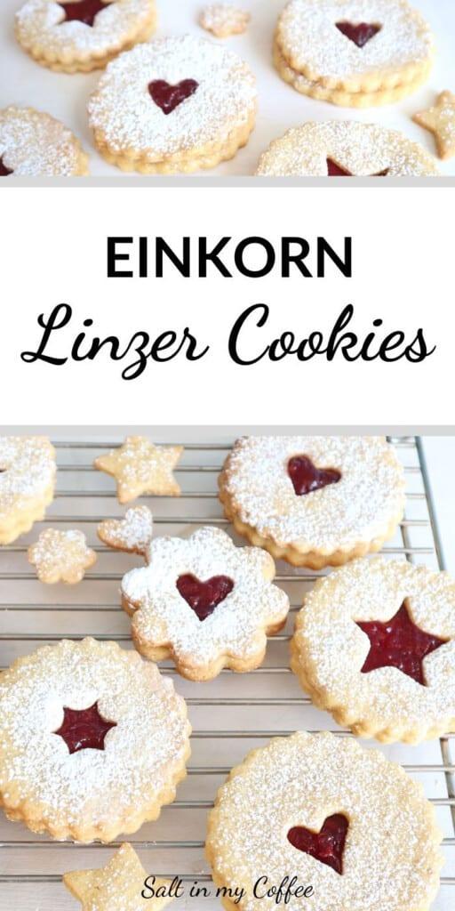 Einkorn Linzer Cookies