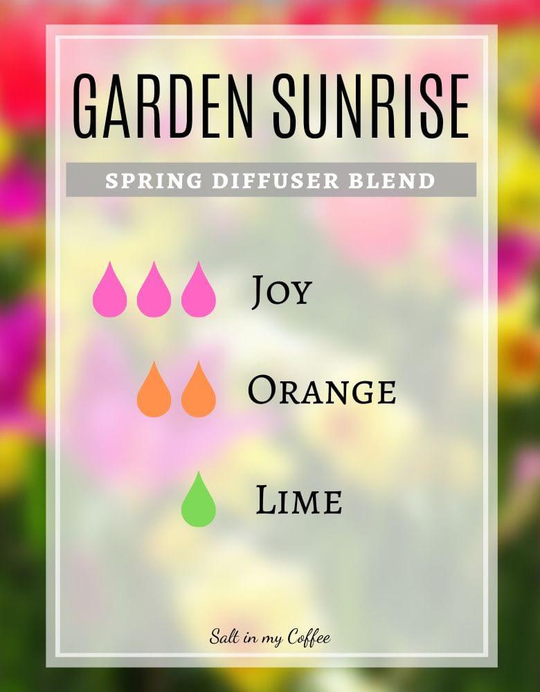 Spring diffuser blends - garden sunrise
