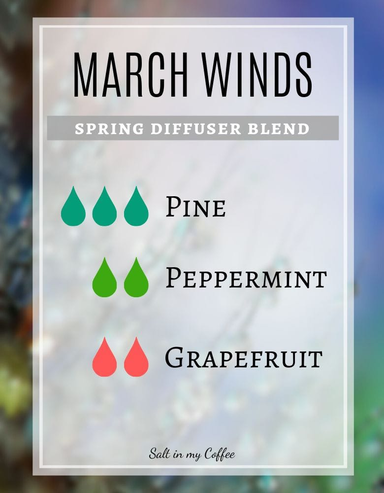 March Winds spring diffuser recipes
