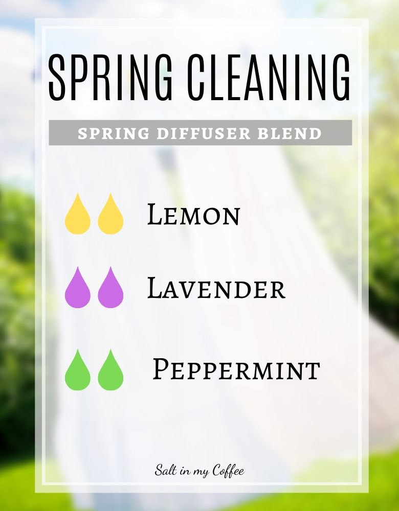 Spring Cleaning diffuser blend for spring