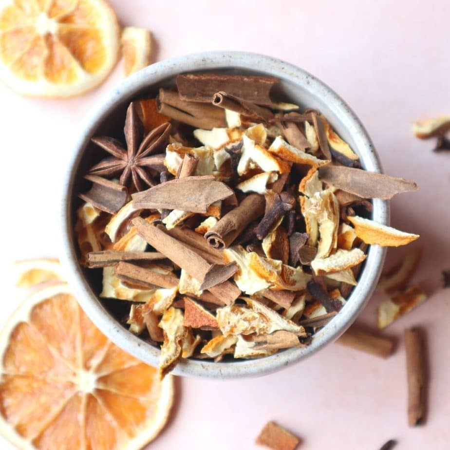 homemade orange spice Christmas potpourri