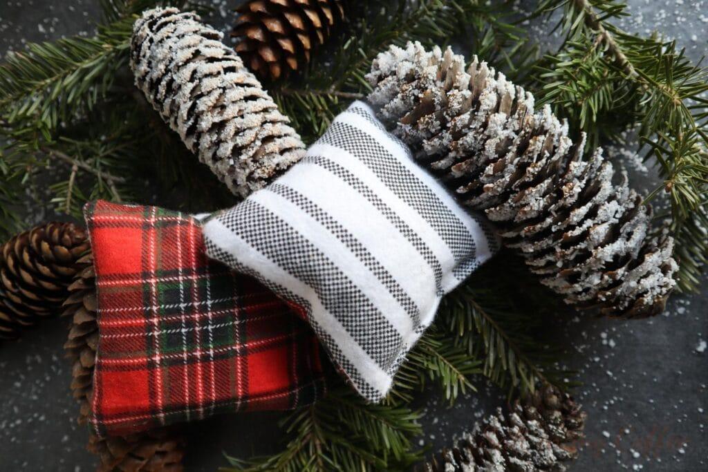 balsam fir pillows, made by hand