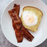 Toad in a hole made with a duck egg