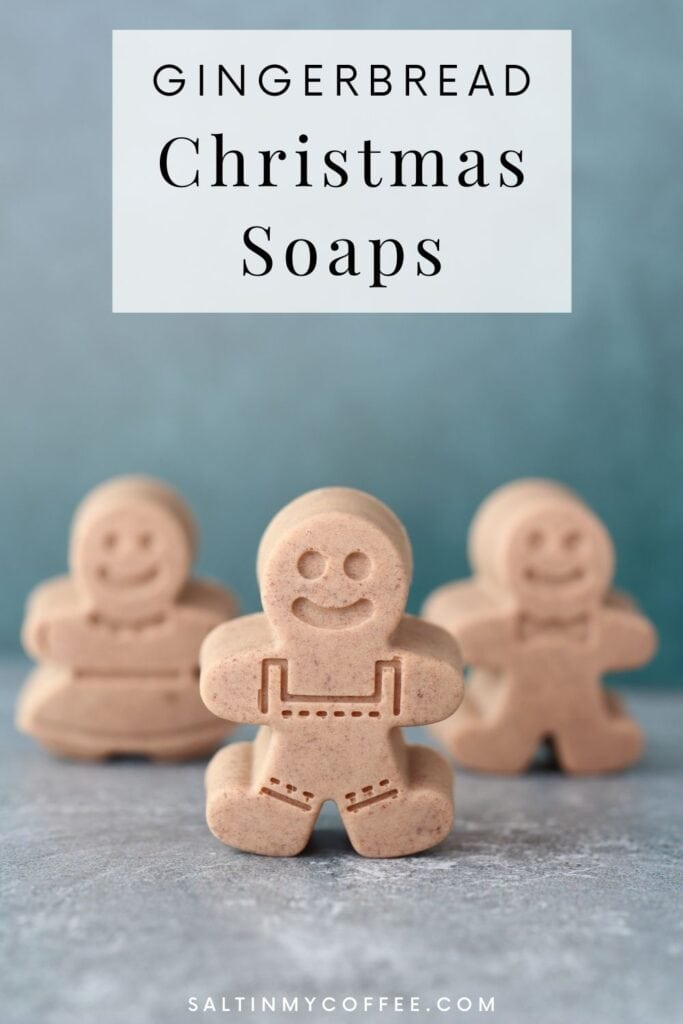 Mini gingerbread cookie Christmas soaps