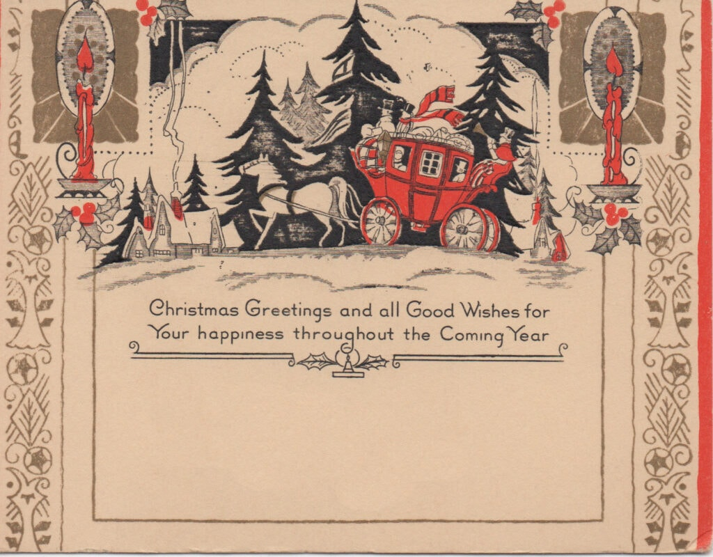 Vintage holiday postcard from early 20th century