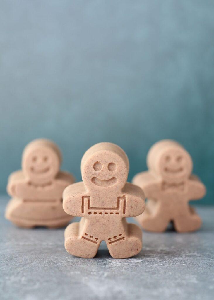 gingerbread boy soaps