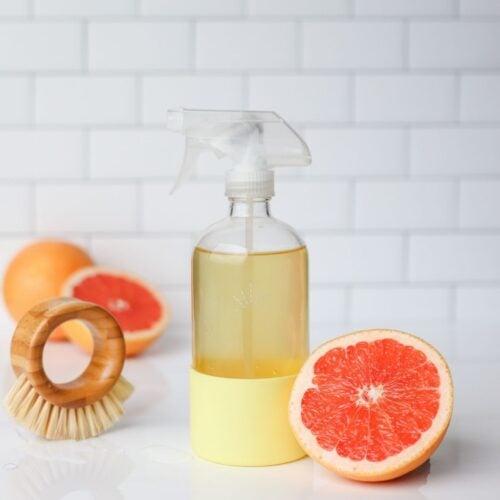 DIY Grapefruit Vinegar Cleaner